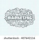 marketing   hand lettering and... | Shutterstock .eps vector #407642116
