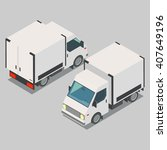isometric  car  front end rear... | Shutterstock .eps vector #407649196