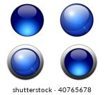 Dark Blue Ball  Button