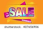 sale. | Shutterstock .eps vector #407656906