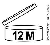 pao cosmetics symbol 12m ... | Shutterstock .eps vector #407663422