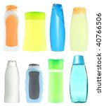 bottles with cosmetic means for ... | Shutterstock . vector #40766506