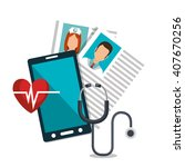 health technology design  | Shutterstock .eps vector #407670256