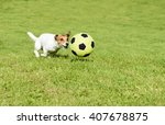 Funny Football Player Playing...