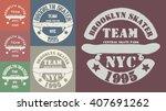 skate board typography  t shirt ... | Shutterstock .eps vector #407691262
