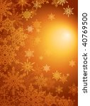 snowflake gold  background with copy space for your text - stock vector