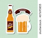 beer icon design   editable... | Shutterstock .eps vector #407695855