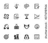 business management icons   set ... | Shutterstock .eps vector #407698966