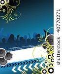 blue party design with dancing...   Shutterstock . vector #40770271