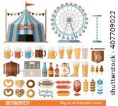 vector set of icons and scenes  ... | Shutterstock .eps vector #407709022