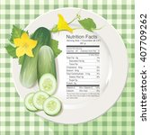 vector of nutrition facts in... | Shutterstock .eps vector #407709262