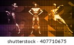 body combat sport design with... | Shutterstock . vector #407710675