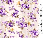rose flower pattern    Shutterstock .eps vector #407717746