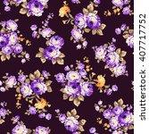 rose flower pattern  | Shutterstock .eps vector #407717752
