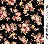 rose flower pattern  | Shutterstock .eps vector #407717782