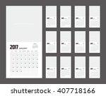 2016 calendar planner design. | Shutterstock .eps vector #407718166