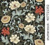 dark enchanted vintage flowers...   Shutterstock .eps vector #407721352