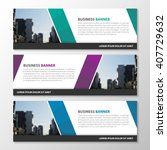 purple green blue polygonal... | Shutterstock .eps vector #407729632