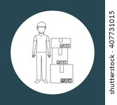 delivery service design  | Shutterstock .eps vector #407731015