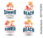 summer holidays design elements ... | Shutterstock .eps vector #407732392