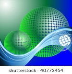 green globe with internet... | Shutterstock .eps vector #40773454