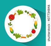 menu delicious food  design  | Shutterstock .eps vector #407734846