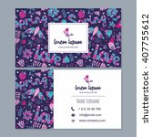 visiting card or business card...   Shutterstock .eps vector #407755612