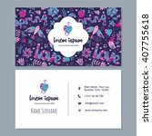 visiting card or business card... | Shutterstock .eps vector #407755618