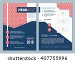 business brochure design... | Shutterstock .eps vector #407755996