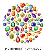 circle made of  different... | Shutterstock .eps vector #407756032