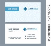 visiting card  business card... | Shutterstock .eps vector #407757742