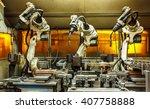 robots welding team in the... | Shutterstock . vector #407758888