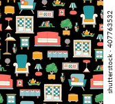 vector seamless pattern with...   Shutterstock .eps vector #407763532