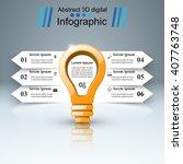 3d infographic design template... | Shutterstock .eps vector #407763748