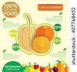cape gooseberry  physalis ....   Shutterstock .eps vector #407768452