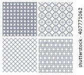 vector set of seamless... | Shutterstock .eps vector #407771062