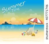 summer time vector illustration | Shutterstock .eps vector #407771746