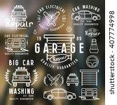 set of car repair labels ... | Shutterstock .eps vector #407774998