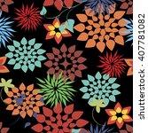 vector seamless pattern flower... | Shutterstock .eps vector #407781082