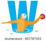 sports alphabet. letter w.... | Shutterstock .eps vector #407787352