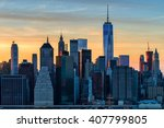 the evolving downtown manhattan ... | Shutterstock . vector #407799805