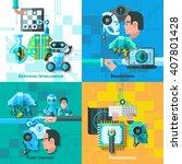artificial intelligence concept ... | Shutterstock .eps vector #407801428