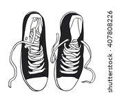 vector illustration black... | Shutterstock .eps vector #407808226