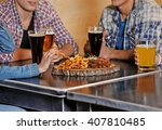 group of young people spending... | Shutterstock . vector #407810485