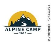 Mountain Adventure Label....