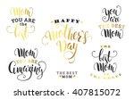 mothers day. lettering design.... | Shutterstock .eps vector #407815072