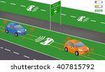electric re charging lane... | Shutterstock .eps vector #407815792