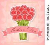 happy mother's day greeting... | Shutterstock .eps vector #407816272