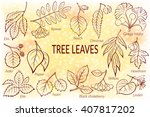set of nature pictograms  tree... | Shutterstock .eps vector #407817202