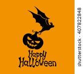 vector illustration. bat and... | Shutterstock .eps vector #407822848